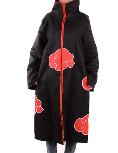 cheap Anime Cosplay-Inspired by Naruto Akatsuki Anime Cosplay Costumes Japanese Print Cosplay Tops / Bottoms Cloak Long Sleeve For Men's Male Dad and Son / Machine wash / Hand wash / Movie / TV Theme Costumes / Humor