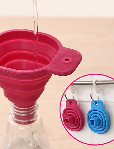cheap Home & Garden-Silicone Foldable Funnel Cute Collapsible Style