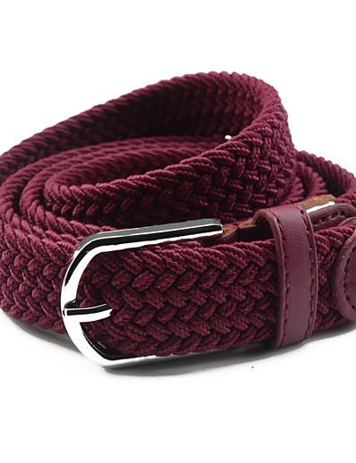 cheap Belt-Women's Dress Belt Fabric / Alloy Skinny Belt - Solid Colored Shiny Metallic / Fashion / PU