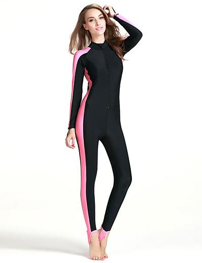 abordables Surf, plongée et plongée en apnée-SBART Femme Combinaison Fine Maillots de Bain Protection solaire UV Séchage rapide Manches Longues Zip frontal - Natation Surf Snorkeling Mosaïque