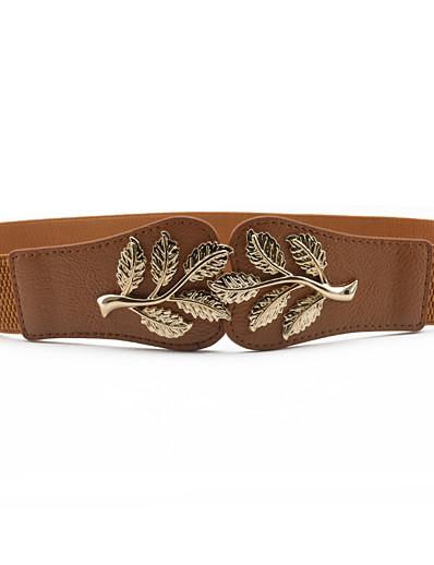 cheap Belt-Women's Buckle Camel Black Party Wedding Street Dailywear Belt Pure Color / White / Fall / Winter / Spring / Summer