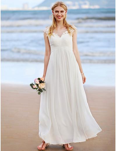 Criss Cross Beach Wedding Dress
