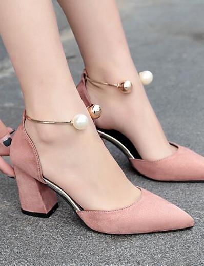 cheap Pumps & Heels-Women's Heels Pearl Leather / PU Basic Pump Summer Black / Burgundy / Pink / EU39