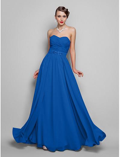 8ebdc33158ba ADOR Evening Dress A-Line / Ball Gown Strapless / Sweetheart Neckline Floor  Length Chiffon Open Back with Beading