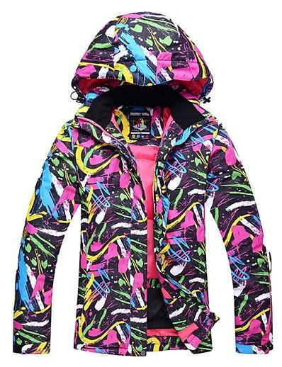 cheap Ski & Snowboard-Women's Thermal Warm Waterproof Windproof Skiing Ski Jacket Snow Jacket Winter Winter Jacket for Ski / Snowboard Winter Sports / Long Sleeve / Athleisure / Fashion