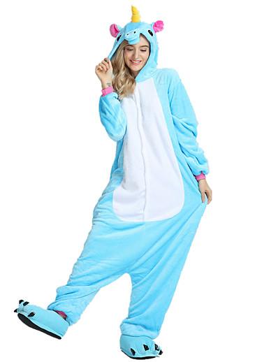 cheap Kigurumi Pajamas-Kigurumi Pajamas Unicorn Flying Horse Adults' Onesie Pajamas Velvet Mink Rose / Blue / Pink Cosplay For Men and Women Animal Sleepwear Cartoon Halloween Festival / Holiday