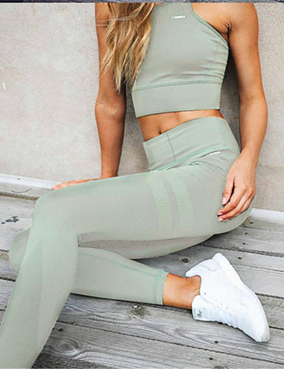cheap Leggings-Women's Daily Sports Sporty Legging Solid Colored Sporty Stylish Black Wine Army Green S M L