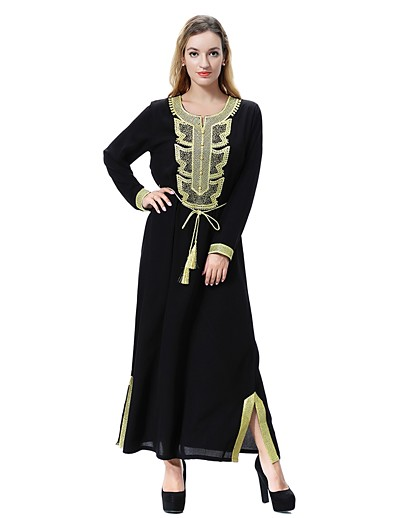 cheap Casual Dresses-Women's Plus Size Daily Basic / Boho Maxi Loose Loose Dress - Solid Color Spring Black Red Light Green XL XXL XXXL