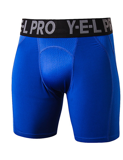 cheap Running, Jogging & Walking-Men's Sports Underwear Compression Shorts Sports & Outdoor Shorts Compression Clothing Briefs Mesh Exercise & Fitness Running Quick Dry Breathability Sport Solid Colored White Black Blue Grey