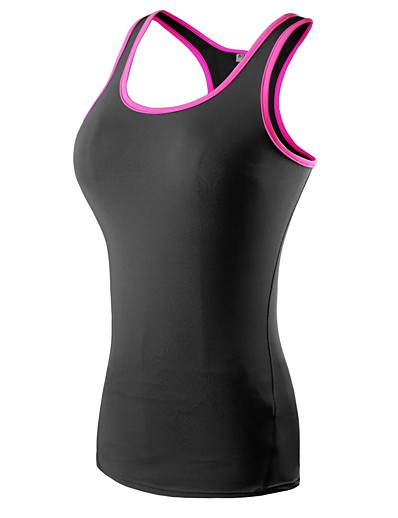 cheap SPORTSWEAR-Women's Sleeveless Compression Tank Top Tank Top Base Layer Top Athletic Spandex Lightweight Fast Dry Breathability Yoga Fitness Gym Workout Workout Exercise Sportswear Black / Red Black / Green