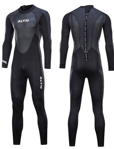 cheap Surfing, Diving & Snorkeling-Men's ZCCO 3mm Full Wetsuit Diving Suit Nylon SCR Neoprene Long Sleeve Thermal Warm Quick Dry Anatomic Design Back Zip Swimming Diving Water Sports Fall Winter Spring / Stretchy