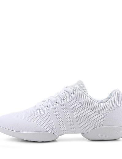 cheap Sneakers-Women's Dance Shoes Knit Dance Sneakers Sneaker Thick Heel Customizable White / Performance / Practice / EU39