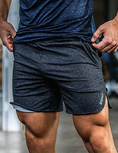 cheap Running, Jogging & Walking-Men's Running Shorts 5 Inch Inseam Shorts Pants / Trousers Cotton Fitness Gym Workout Lightweight Breathable Soft Sport Solid Colored Dark Grey White Black Grey / Stretchy