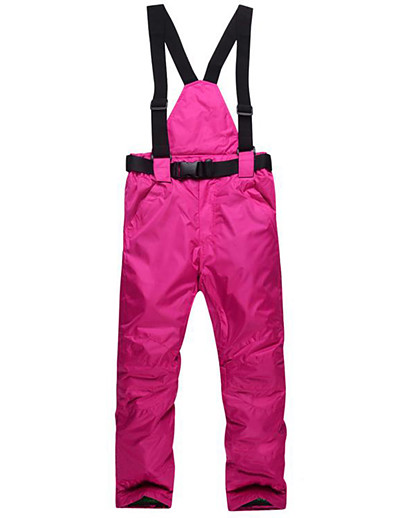 cheap Ski & Snowboard-MUTUSNOW Women's Waterproof Windproof Warm Wearable Ski / Snow Pants Ski Bibs Winter Pants / Trousers for Skiing Camping / Hiking Ski / Snowboard Outdoor Exercise / Solid Colored / Breathable