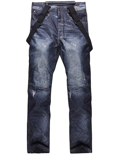 cheap Ski & Snowboard-Men's Ski / Snow Pants Ski / Snowboard Hiking Waterproof Windproof Warm Eco-friendly Polyester Cotton Bib Pants Ski Wear
