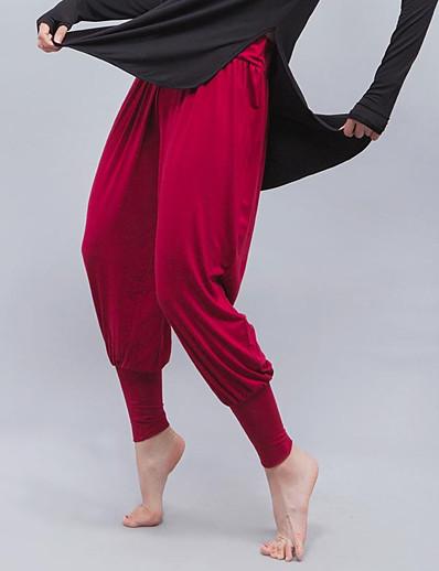 abordables Exercice, Fitness & Yoga-Femme Taille haute Pantalon de yoga Sarouel Culotte Bouffante Stretch 4 voies Respirable Blanche Noir Rouge Bordeaux Modal Zumba Course / Running Danse Des sports Tenues de Sport Elastique Ample