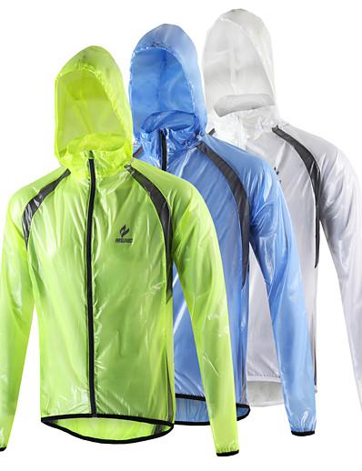cheap Sportswear-Arsuxeo Men's Cycling Jacket Winter Spandex Bike Raincoat Waterproof Windproof Breathable Sports White / Light Green / Blue Mountain Bike MTB Road Bike Cycling Clothing Apparel Relaxed Fit Bike Wear