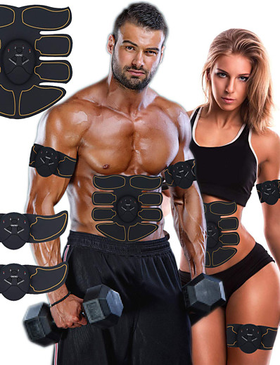 cheap Exercise, Fitness & Yoga-Abs Stimulator Abdominal Toning Belt EMS Abs Trainer 6 pcs Sports Gym Workout Exercise & Fitness Bodybuilding Smart Electronic Muscle Toner Muscle Toning Tummy Fat Burner Ultimate Training For Leg