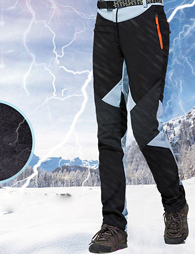 abordables SPORTSWEAR-Women's Ski / Snow Pants Skiing Snowboarding Winter Sports Thermal Warm Waterproof Waterproof Zipper 100% Cotton Chenille Polyster Bib Pants Ski Wear