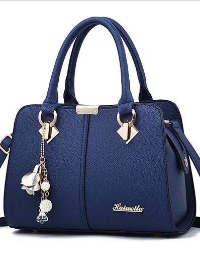 cheap Bags-Women's Zipper PU Shoulder Messenger Bag Black / Wine / Royal Blue