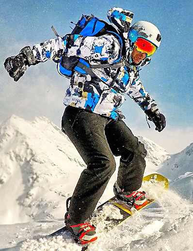 cheap Ski & Snowboard-MUTUSNOW Men's Ski Suit Ski Jacket with Pants Ski / Snowboard Winter Sports Waterproof Windproof Breathable Polyester Clothing Suit Ski Wear / Warm / Quick Dry