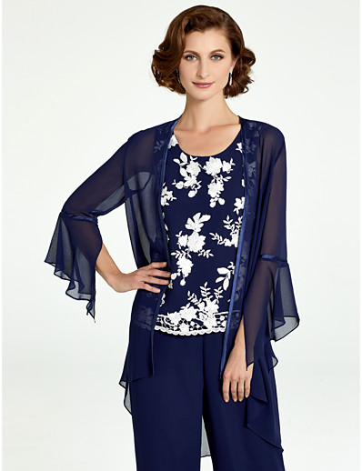 a7c769a240631 Ador Long Sleeve Chiffon Wedding   Party   Evening Women s Wrap With Lace-up    Solid Coats   Jackets