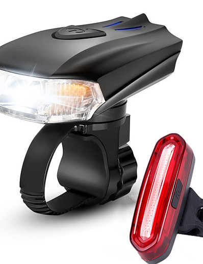 cheap Cycling-LED Bike Light Rechargeable Bike Light Set Front Bike Light Rear Bike Tail Light Mountain Bike MTB Bicycle Cycling Waterproof Multiple Modes Smart Induction Light Sensor Rechargeable Li-Ion Battery