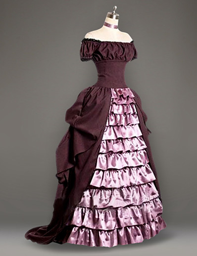 cheap Historical & Vintage Costumes-Maria Antonietta Rococo Victorian 18th Century Ruffle Dress Vacation Dress Dress Prom Dress Women's Costume Pink Vintage Cosplay Short Sleeve Party Prom Floor Length Plus Size