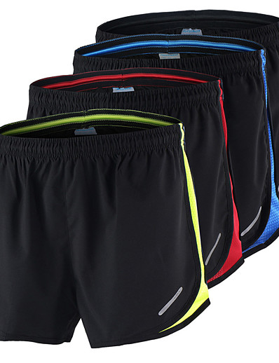 cheap Running, Jogging & Walking-Arsuxeo Men's Running Shorts Athletic Shorts Bottoms Mesh Fitness Gym Workout Training Bodybuilding Athletic Breathable Quick Dry Soft Plus Size Sport Red / black Black / Yellow Black / Blue