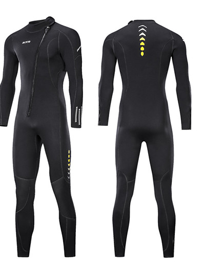 cheap Surfing, Diving & Snorkeling-ZCCO Men's Full Wetsuit 3mm SCR Neoprene Diving Suit High Elasticity Long Sleeve Front Zip Patchwork Fashion Autumn / Fall Spring Summer