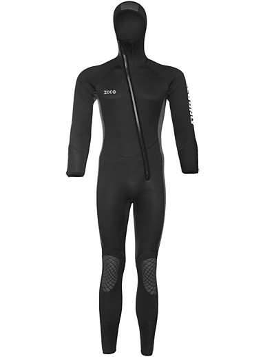 cheap Surfing, Diving & Snorkeling-ZCCO Men's Women's Full Wetsuit 5mm SCR Neoprene Diving Suit High Elasticity Long Sleeve Front Zip Patchwork Fashion Autumn / Fall Spring Summer / Winter