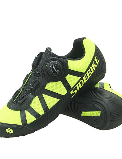 cheap SPORTSWEAR-SIDEBIKE Adults' Bike Shoes Breathable Anti-Slip Mountain Bike MTB Road Cycling Cycling / Bike Yellow Men's Women's Cycling Shoes