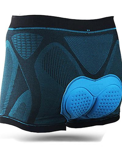 cheap Cycling-Mountainpeak Men's Cycling Under Shorts Lycra Bike Underwear Shorts Padded Shorts / Chamois 3D Pad Anatomic Design Moisture Wicking Sports Solid Color Black / Blue Mountain Bike MTB Road Bike Cycling