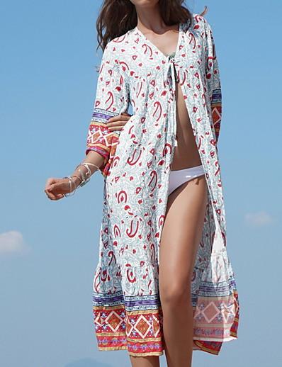 preiswerte Vertuschungen-Damen Baumwolle Etuikleid Kleid Midi Tiefes V