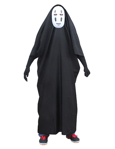 cheap Anime Cosplay-Inspired by Spirited Away Cookie Anime No Face man Anime Cosplay Costumes Japanese Classic Cosplay Suits Outfits Gloves Cloak Mask Half Sleeve For Unisex / Machine wash / Wash with similar colours