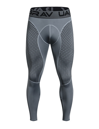 cheap Running, Jogging & Walking-UABRAV Men's Running Tights Leggings Compression Pants Athletic Base Layer Compression Clothing Tights Elastane Winter Fitness Gym Workout Running Breathable Quick Dry Sweat wicking Sport Black Grey