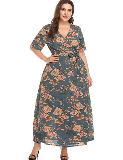 cheap Plus Size Dresses-Women's Swing Dress Black Pink Beige XXXL XXXXL XXXXXL