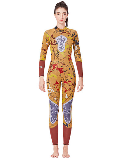 cheap SPORTSWEAR-Dive&Sail Women's Full Wetsuit 3mm SCR Neoprene Diving Suit Thermal / Warm High Elasticity Long Sleeve Back Zip - Diving Water Sports Camo / Camouflage Autumn / Fall Spring Summer / Micro-elastic