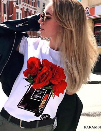 cheap TOPS-Women's T-shirt - Graphic Red