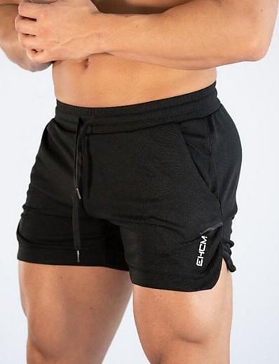 abordables Pantalons & Jeans-Homme Sportif Extérieur Short Entraînement Sport & Loisir Usage quotidien Short Pantalon Couleur Pleine Court Yoga Court Cordon Noir Gris