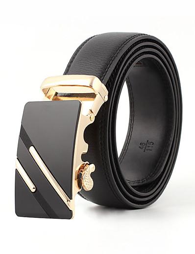 cheap Belt-Men's Work / Active Leather Skinny Belt - Solid Colored / Vintage