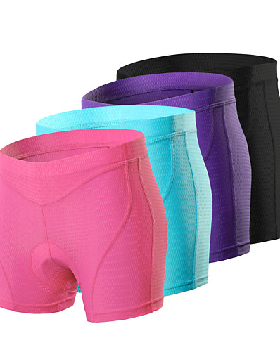cheap Cycling-Arsuxeo Women's Cycling Under Shorts Cycling Padded Shorts Bike Underwear Shorts Padded Shorts / Chamois Bottoms Sports Spandex Purple / Fuchsia / Blue Mountain Bike MTB Road Bike Cycling Clothing