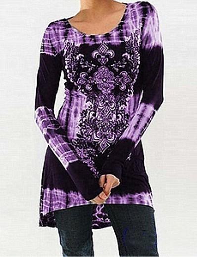 cheap TOPS-Women's T-shirt - Floral / 3D Patchwork / Print Black