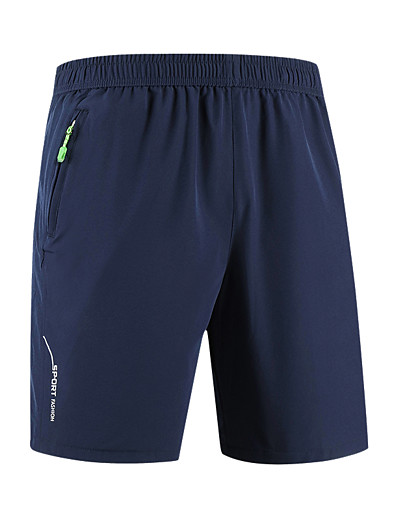 """cheap SPORTSWEAR-Men's Hiking Shorts Solid Color Summer Outdoor 10"""" Relaxed Fit Breathable Quick Dry Ultra Light (UL) Stretchy Shorts Bottoms Black Army Green Grey Dark Blue Camping / Hiking Hunting Fishing M L XL"""