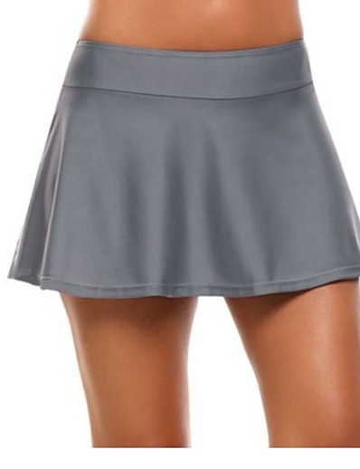 cheap Women's Bottoms-Women's Active Basic Skirts Solid Colored Knitting Black Navy Blue Gray / Mini