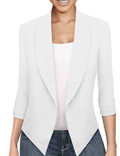 cheap Outerwear-Women's Blazer Solid Colored Classic Elegant & Luxurious Long Sleeve Coat Fall Spring Daily Regular Jacket Blue