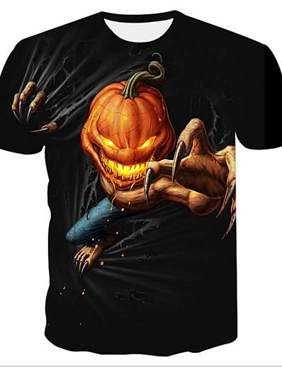 cheap TOPS-Women's Halloween Daily Basic T-shirt - 3D Print Black