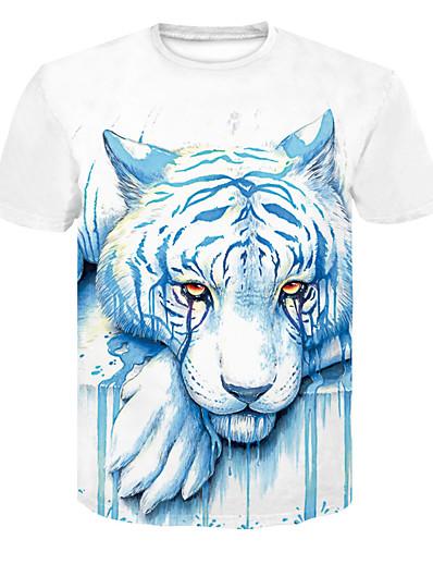 cheap TOPS-Women's Daily Basic T-shirt - 3D / Animal White