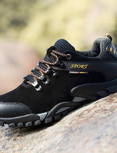 cheap SPORTSWEAR-Men's Hiking Shoes Lightweight Breathable Anti-Slip Comfortable Hiking Climbing Autumn / Fall Spring Black Gold Grey Dark Blue