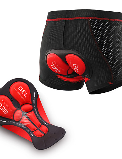 cheap Cycling-Arsuxeo Men's Cycling Under Shorts Elastane Bike Underwear Shorts Padded Shorts / Chamois Bottoms 3D Pad Moisture Wicking Breathable Sports Black / Red / Black / Black / Blue Mountain Bike MTB Road